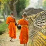 Wat Hanchey temple boys