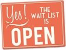 Yes waitlist open
